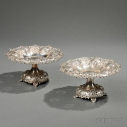 Pair of Tiffany & Co. Sterling Silver Compotes