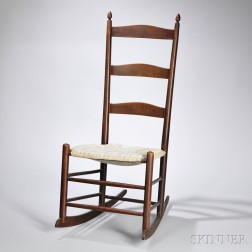 """Shaker Production """"2"""" Maple Rocking Chair"""