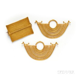 Group of Gold Ethnographic Jewelry