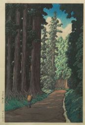 Hasui: An Avenue at Nikko