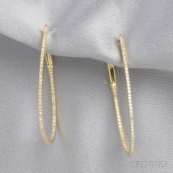 18kt Gold and Diamond Earpendants