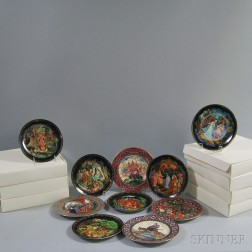 "Ten Heinrich Villeroy & Boch ""The Russian Fairy Tales"" Collectible Plates"