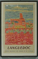 """Framed French National Railways Company """"Languedoc"""" Travel Poster"""