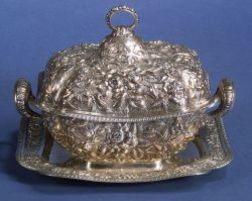 Dominick & Haff Sterling Repousse Tureen and Undertray