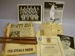 Group of 1940s Boston Red Sox Baseball and Sports Collectibles