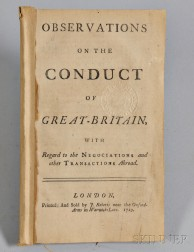 Observations on the Conduct of Great Britain, with Regard to the Negociations and other Transactions Abroad.