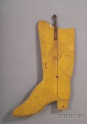 Painted Wooden Bootmaker's Trade Sign