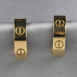 "18kt Gold ""Love"" Earrings, Cartier"