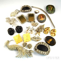 Small Group of Mostly Vintage Costume Jewelry