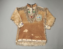 "Athabascan Beaded Hide ""Chief's"" Coat"