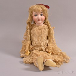 Large Germany Bisque Head Doll
