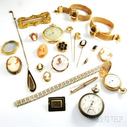 Group of Late Victorian Jewelry and Pocket Watches