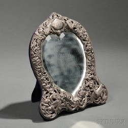 Victorian Sterling Silver-mounted Mirror