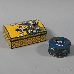 Two Cloisonne Boxes