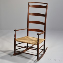 """Shaker Production """"7"""" Transitional Prototype Maple Rocking Chair"""