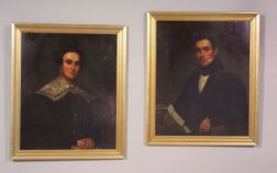 Attributed to William Jewett (American, 1795-1874) and Samuel Lovett Waldo (American, 1783-1861) Pair of Portraits Depicting Moses Wanz