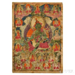Thangka Depicting the Green Tara