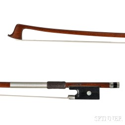 French Nickel Silver-mounted Violin Bow by Jerome Thibouville-Lamy