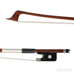 French Nickel Silver-mounted Cello Bow, Marc Laberte