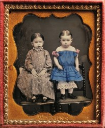 Joseph Weekes (American, 1829-1917)      Hand-tinted Ninth-plate Daguerreotype of Two Children