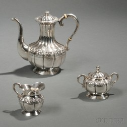 Three-piece Sanborns Mexican Sterling Silver Diminutive Tea Service