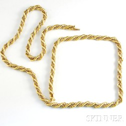 18kt Bicolor Gold Rope Chain
