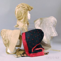 Four Assorted Bonnets and Hoods