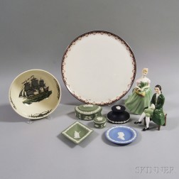 Nine Pieces of Royal Doulton and Wedgwood Ceramics