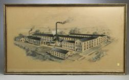 Architect's Watercolor Rendering of the Ormsbee Engineering Co.