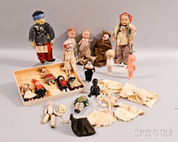 Large Group of Small International Cloth and Composition Dolls.