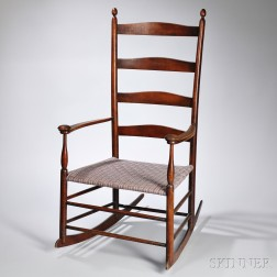 """Shaker Production """"6"""" Transitional Maple Rocking Chair"""