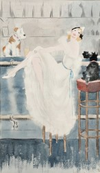 Attributed to Louis Icart (French, 1888-1950)      Study for/after Au Bar