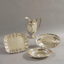 Three Sterling Silver Dishes and a Pitcher
