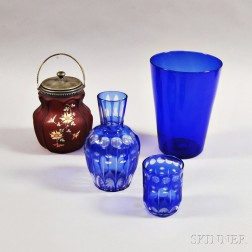 Four Pieces of Colored Glass