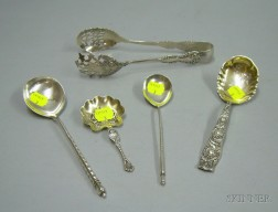 Five Sterling Silver Serving Items