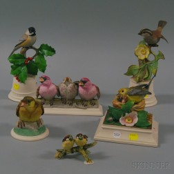 Six Boehm Porcelain Bird Figures
