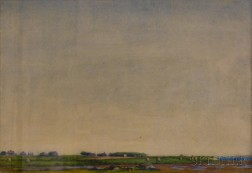 Anglo-American School, 19th/20th Century      Tidal Marsh Landscape with Broad Blue Sky