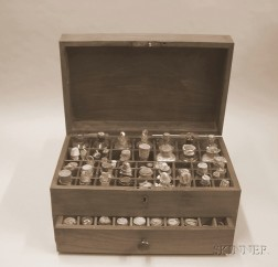 Mahogany Apothecary Chest of Dr. Samuel Fisk Green