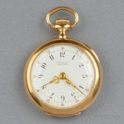 Antique 18kt Gold Open Face Pocket Watch, Tiffany & Co.
