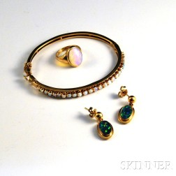 Group of 14kt Gold and Opal Jewelry