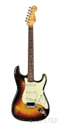 American Electric Guitar, Fender Musical Instruments, Fullerton, 1963, Model   Stratocaster