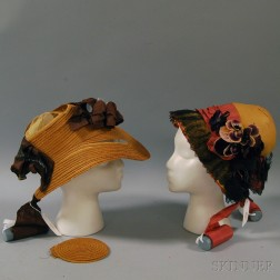 Two Straw Bonnets