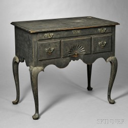 Black-painted Cherry Dressing Table