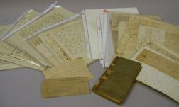 Group of 18th and 19th Century Documents, Letters, Ephemera, and a Book