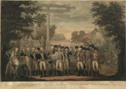 John Francis Renault (French) The British Surrendering Their Arms to General Washington after Their Defeat at York Town in Virginia Oct