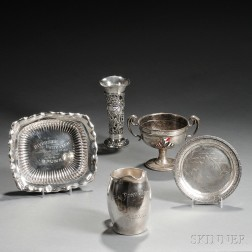 Five American Sterling Silver Yachting Trophies