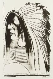 Leonard Baskin (American, 1922-2000)  Lot of Two Images of Native Americans:   Sitting Bull
