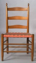 """Shaker Number """"3"""" Meeting House Armless Chair"""