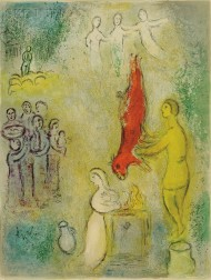 Marc Chagall (French/Russian, 1887-1985)      Sacrifice aux Nymphs