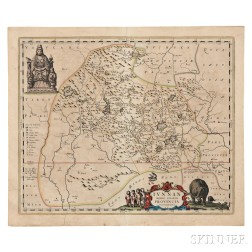 China, Two Maps, Yunnan and Jiangxi Provinces. Joan Blaeu (1596-1673) Ivnnan Imperii Sinarum Provincia Decimquinta; [and] Kiangsi, Impe